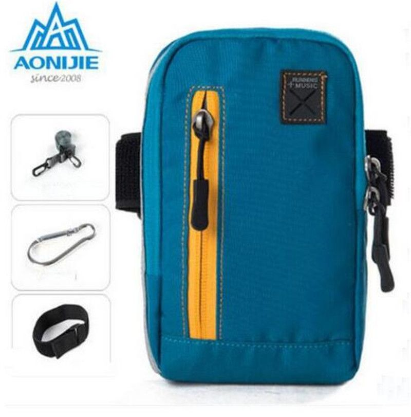 AONIJIE Multi-Function Arm Bags For Outdoor Running Coins Purse Sports Phone Mobile Wallet Key Package With Arm Shoulder Strap
