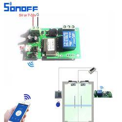 Sonoff wifi interruptor módulo de Relé inalámbrico domótica Inteligente para el acceso Informático dc5V/12 v 24 v 32 v avance lento/Autoblocante IOS