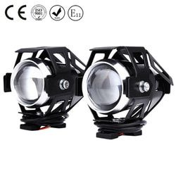 2 unids 125 W 3000LM U5 LED transformar Spotlight motocicleta faro aleación de aluminio material alto brillo fácil de instalar