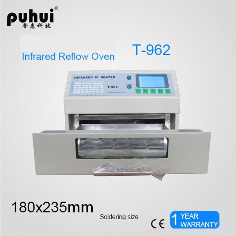 T-962 110 V/220 V 800 W four de recharge de bureau infrarouge IC chauffage Machine à souder 800 W 180x235mm T962 pour reprise BGA SMD SMT