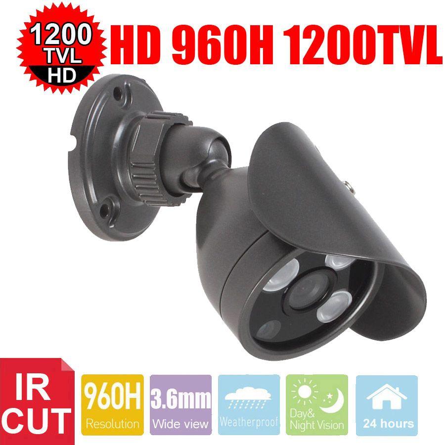Vanxse видеонаблюдения 1/3 Sony CMOS HD 3 шт. Массив ИК-960 h/1200tvl 3.6 мм Открытый D /N Водонепроницаемый пуля видеонаблюдения Камера