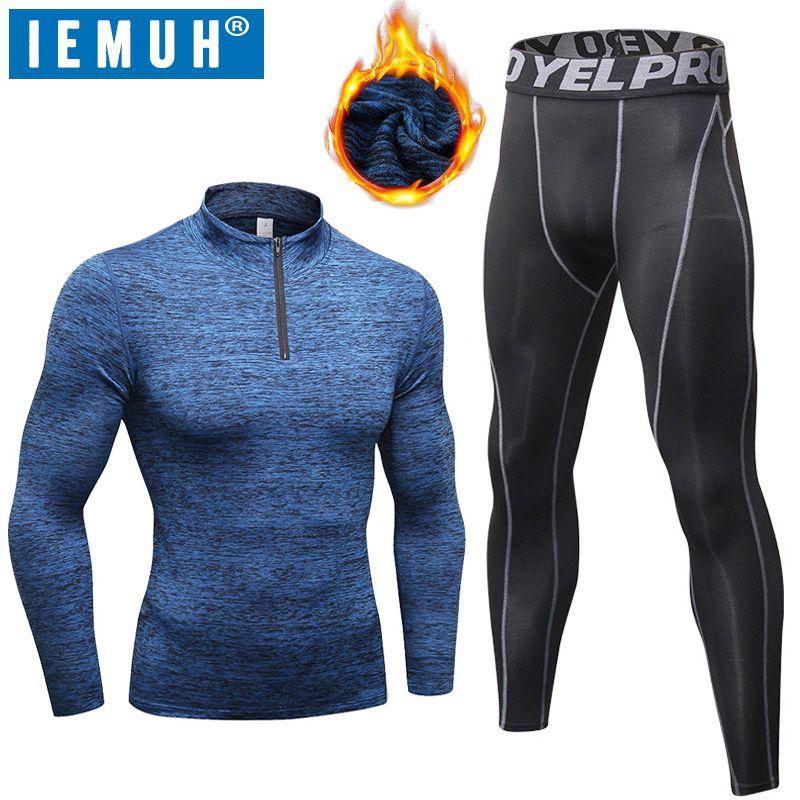 IEMUH Neue Winter Thermo-unterwäsche Männer Lange Unterhosen Set Elastische Atmungs Weiblichen Beiläufigen Warme Plus samt Warm Halten