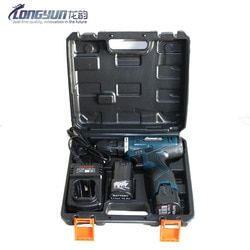 Longyun Advertising & 16.8V Lithium Battery * 2 Torsi Bor Listrik Cordless Obeng Listrik Tangan Driver dengan Koper Kotak Alat