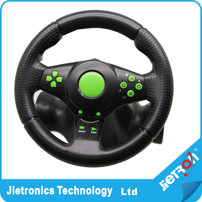 Jietron Hot Gaming Vibration Racing Steering Wheel (23cm) and Pedals for XBOX 360 PS3 PS2 PC USB