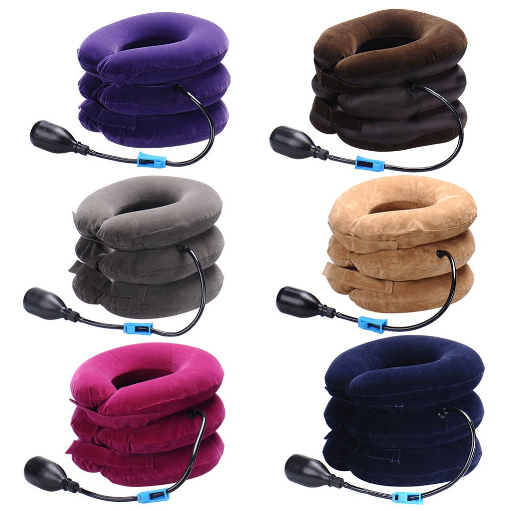 Inflatable Air Cervical Neck Traction Neck Massage Soft Brace Device Unit for Headache Head Back Shoulder Neck Pain Health Care