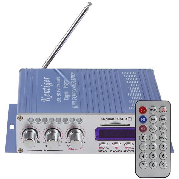 HY502 affichage numérique Hi-Fi 50Wx4 2CH amplificateur de puissance stéréo de voiture prise en charge iPod/USB/MP3/FM/SD