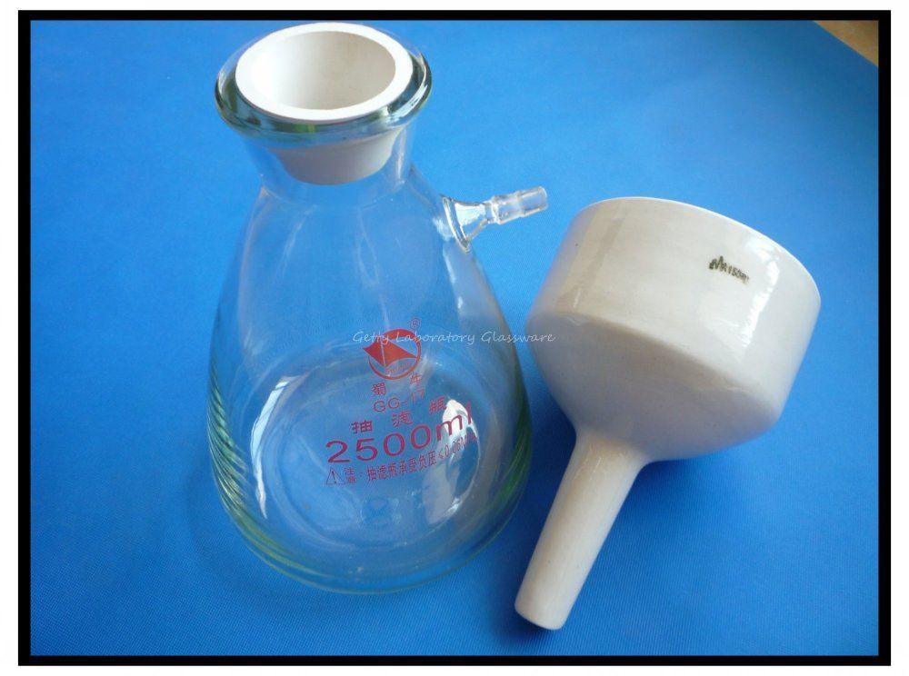 2500 ml (2.5L) Buchner Trichter Gerät, Filteration Trichter Kit verwendet für Vakuumsauger Filteration