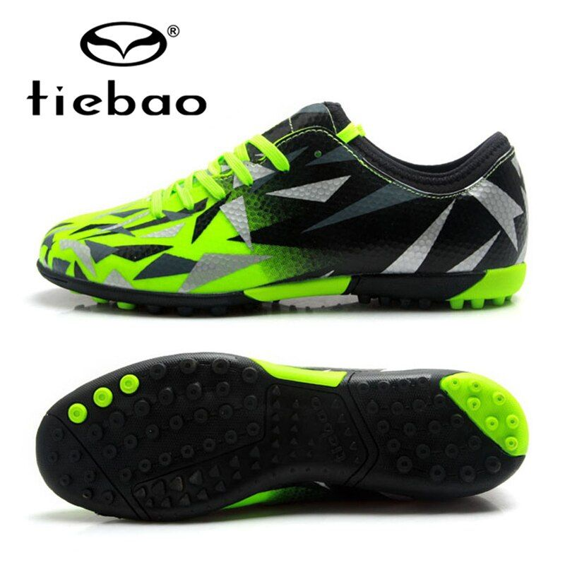 TIEBAO Soccer Shoes TF Turf Soles Breathable Outdoor Sneakers For Men Football Training Boots