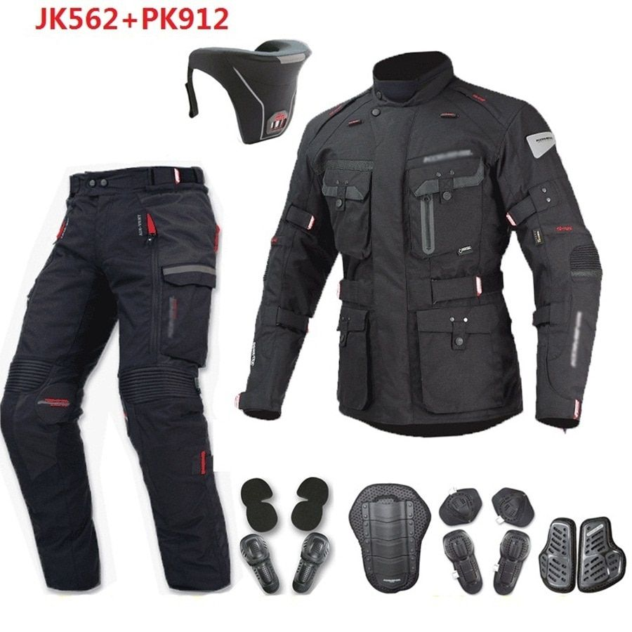 Free shipping 1set Motocross Jacket Moto Windproof Waterproof Keep Warm Off-road Clothing Moto Suits Motorcycle Jacket and Pants