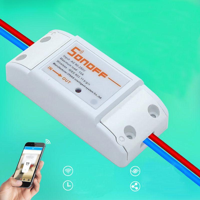 WiFi Sans Fil Smart Switch Module ABS Shell Prise Pour BRICOLAGE Maison Z09 Drop ship
