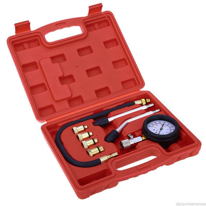New Engine Cylinder Pressure Gauge Compression Tester Diagnostic Tool Kit
