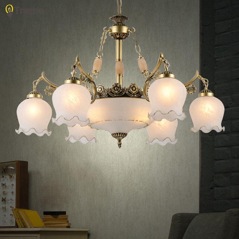 2018 New arrival Hot sale chandeliers genuine vintage chandelier handmade golden high quality flowerlike novelty led chandelier