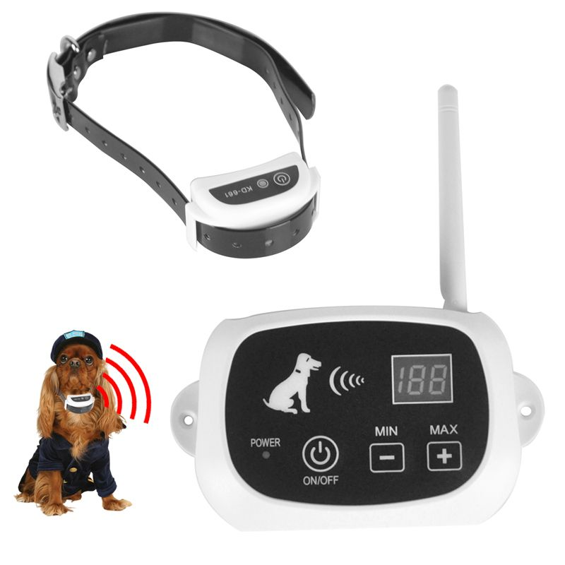 Wireless Remote Dog Fence System Pet Electronic Fencing Device Waterproof Dog Training Collar Electric Shock 0-100 Levels