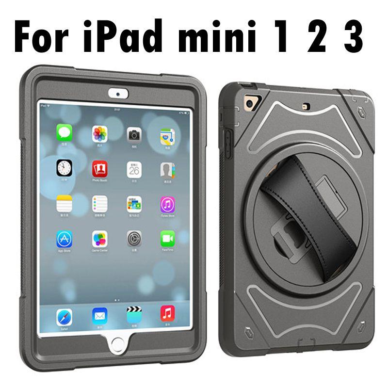 Pour Apple iPad mini 1/2/3 Ceinture De Support de Main plein Body Armor Antichoc Cas de Couverture Pour iPad mini 3 2 1