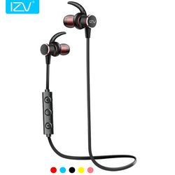 IZV Magnetic controlled switch Sports Bluetooth Earphone headset magnetic Suction metal universal stereo earphone for iphone 8 X