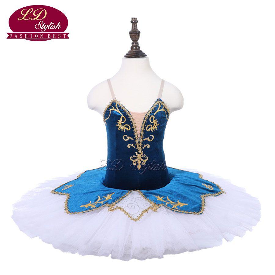 Girls Blue Professional Ballet Tutu The Nutcracker Performance Dancewear Kids Classical Ballet Dance Competition Costumes Adult