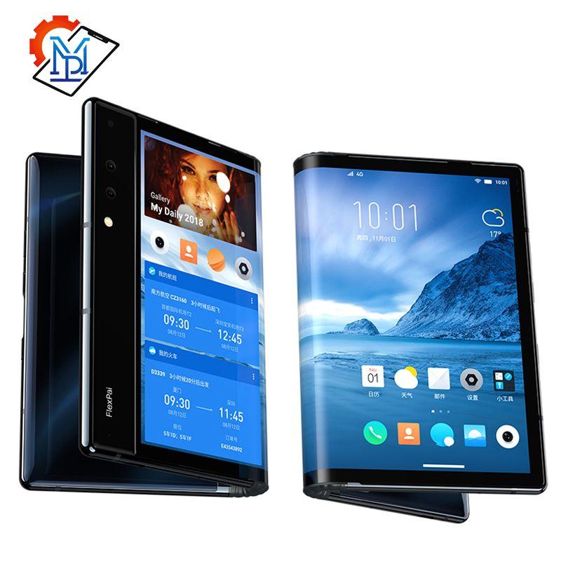 Original Royole FlexPai Handy 7,8 Flexible AMOLED Bildschirm 6/8G RAM 128/256G ROM snapdragon 855 Octa-Core 3970mAh Smartphone