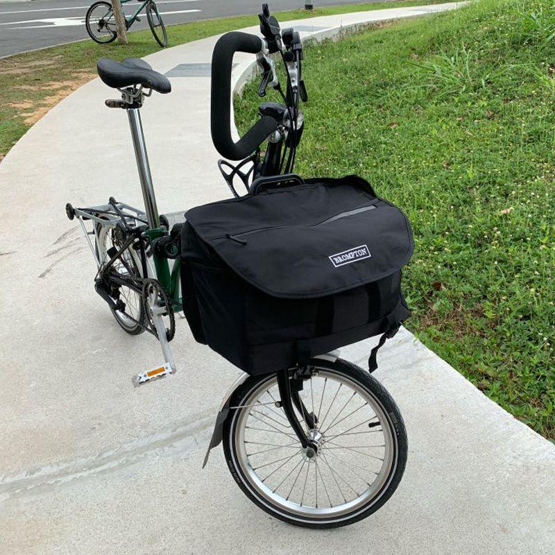 AGEKUSL S Taschen Wasserdichte Fahrrad Taschen Für Brompton Faltrad Gemüse Gepäck Korb Mit Regenschutz Träger Block