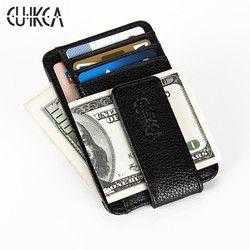CUIKCA Nouvelle Mode Femmes Hommes Wallet Money Clip Aimant Clip Ultra-Mince de Poche Pince Carte de Crédit Cas Mini Creative Portefeuille
