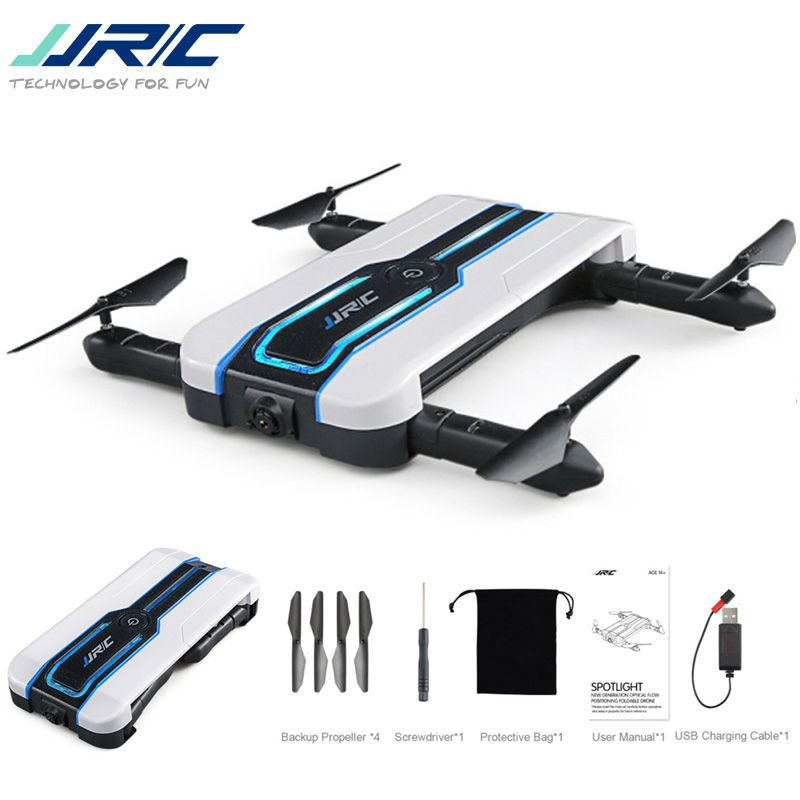 JJRC H61 Spotlight WIFI FPV Selfie Drone With 720P Camera Optical Flow Positioning 6-Axis Foldable RC Quadcopter VS E57 E56