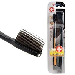 2pc/Pack Black Bamboo Toothbrush Eco friendly Travel Brush Tooth Brosse a Dents Soft Charcoal Toothbrush Nano Tooth Brush Adults