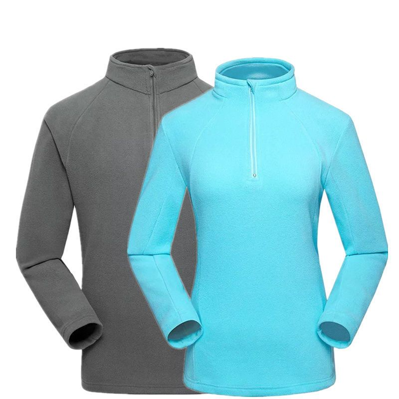 2017 outdoor fleece jacket thermal keep warm pullover men and women hiking clothing windbreaker inner for camping and fishing