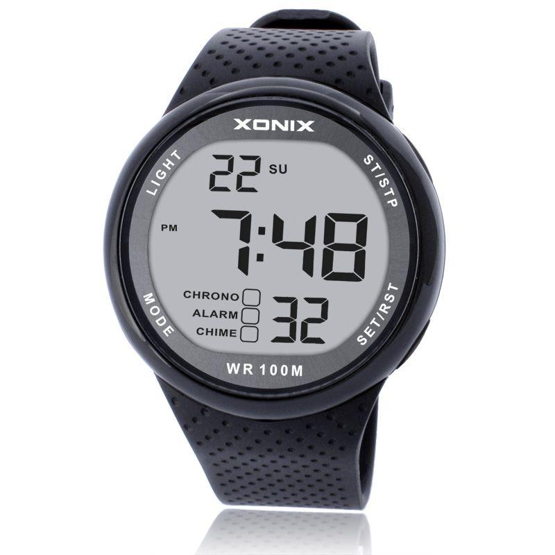 2018 New Brand Watch Men Military Sports Watches Fashion PU Waterproof LED Digital Watch For Men Clock digital-watch GJ