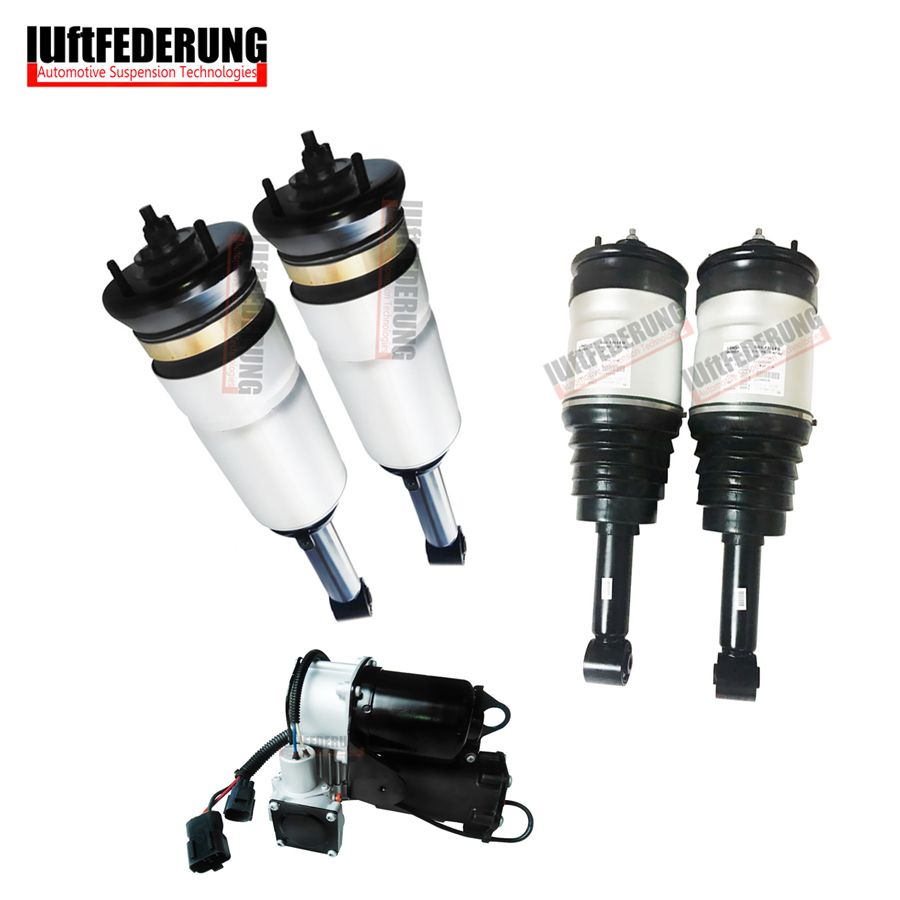 Luftfederung 5pcs LR3 LR4 Discoverer 3 Suspension Air Spring Air Ride Air Suspension Air Compressor RTD501090 RTD501080