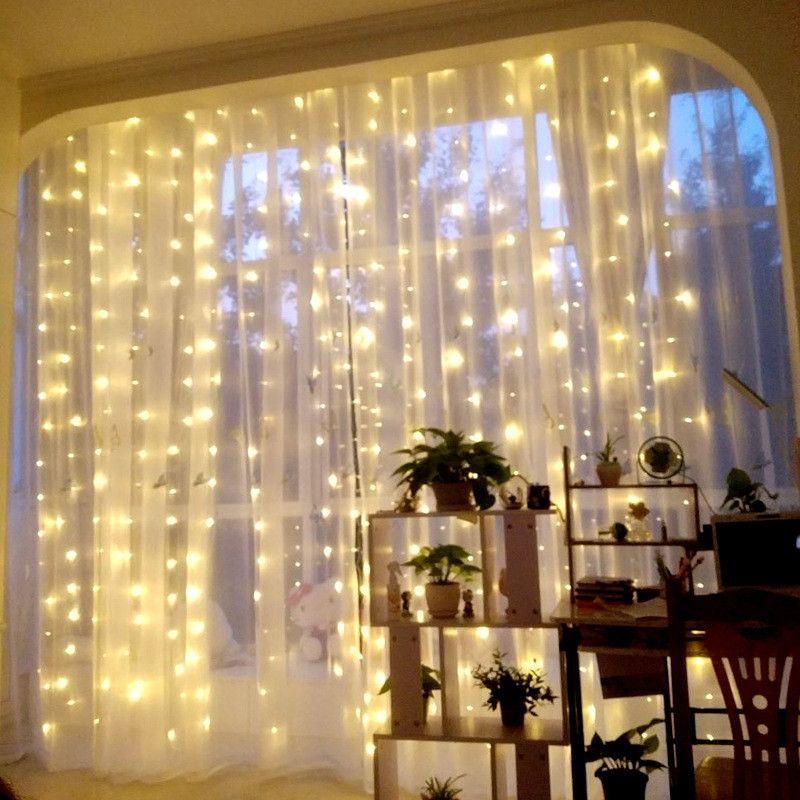3m * 3m 300 rideaux lumineux LED nouvel an décoration décorations De noël pour la maison Natale Arvore De Natal Decoracion Navidad. Q