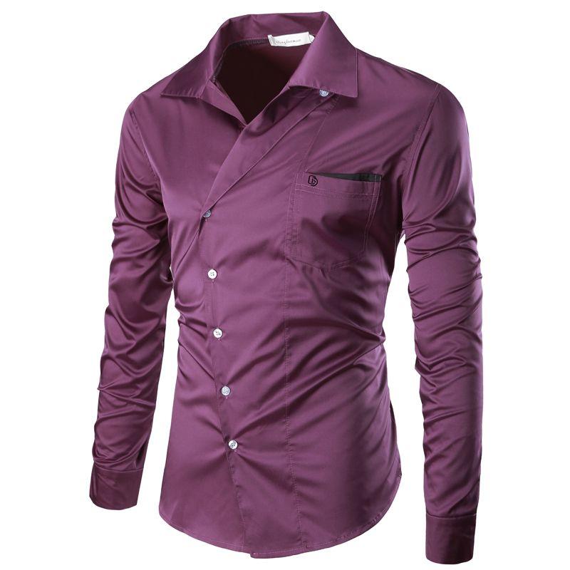 Для мужчин рубашка одежда с длинным рукавом 2017 бренд Рубашки для мальчиков Для мужчин Повседневное мужской Camisa однотонная сорочка Для мужч...
