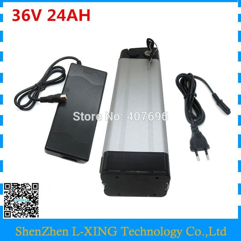 Free customs duty 36V electric bicycle battery 36 V 24AH lithium battery use Samsung 3000mah cell with aluminum case