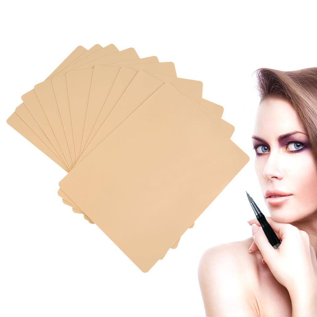 10 unids/pack Labios Cejas Maquillaje Permanente 20x15 cm Práctica Del Tatuaje En Blanco Hoja de La Piel para la Aguja de La Máquina Suministro Kit Envío de la gota