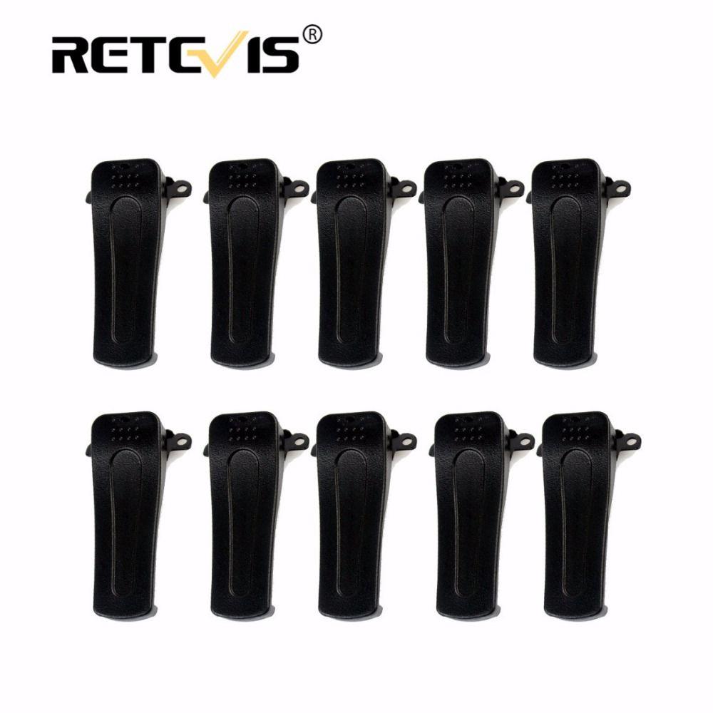 10 pcs D'origine Retevis H777 Clip Ceinture Pour Baofeng BF-888S BF-666S BF-777S Retevis H-777 Talkie Walkie Accessoires J9104T