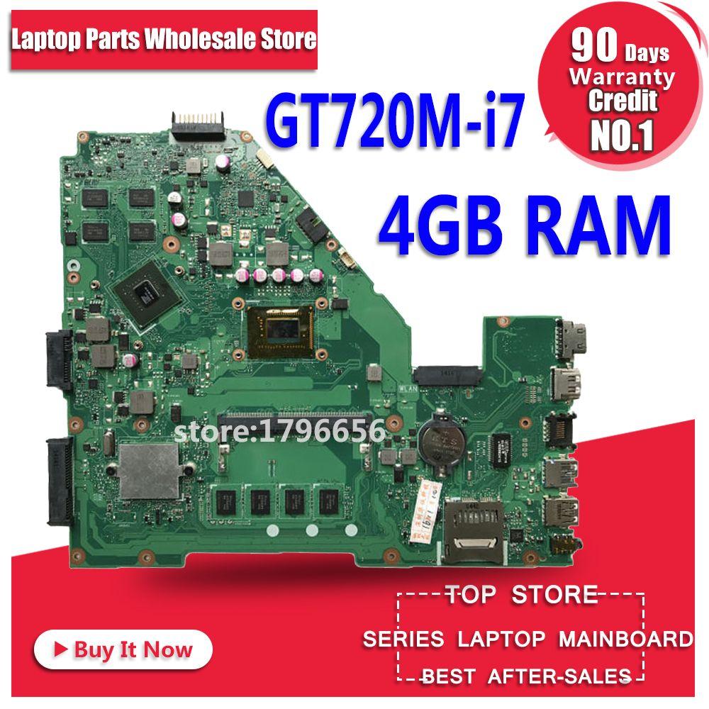 GT720M i7 CPU 4GB RAM X550CC motherboard REV 2.0 For ASUS X550C X552C X550CC X550CL Y581C Laptop motherboard X550CC mainboard