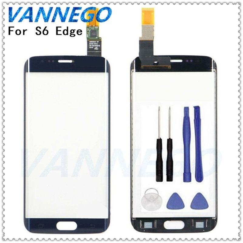 Vannego Original 5,1 zoll touch screen Für Samsung Galaxy S6 Rand G9250 G925 G925F Touch Sensor Glasscheibe Ersatz