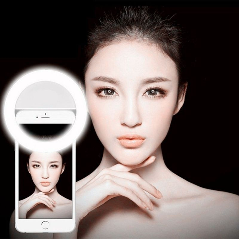 SCOMAS Rechargeable Beauty Selfie led flash Light Ring Photo Shoot Selfie Night Light 36 LED Lights For iPhones for Samsung
