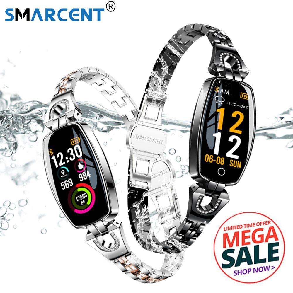 H8 Touch Screen Smart Watch Bracelet Lady Women Heart Rate Sleep Monitor Smart Band Blood Pressure Sports SmartBand
