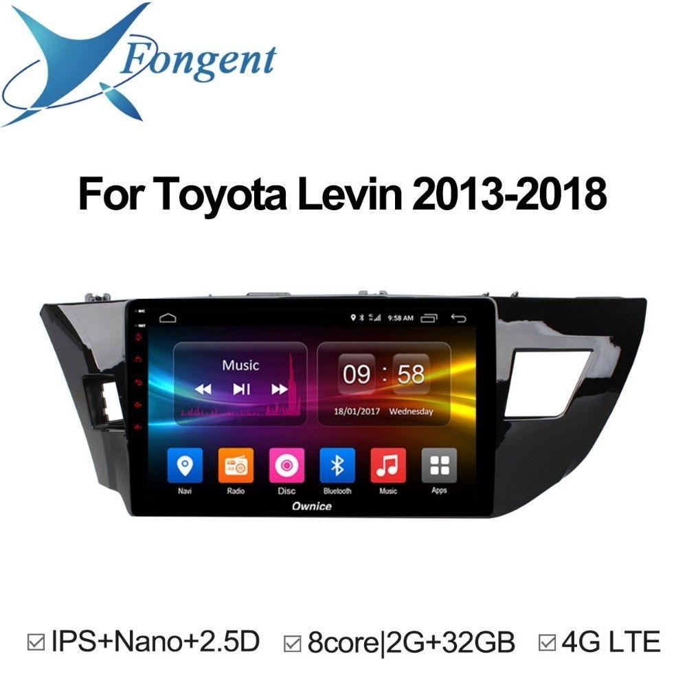 Für Toyota corolla 2014 2015 Levin 2013 2014 2015 2016 2017 2018 Auto Android Einheit GPS Navigation Radio Multimedia Player DVD TUPFEN