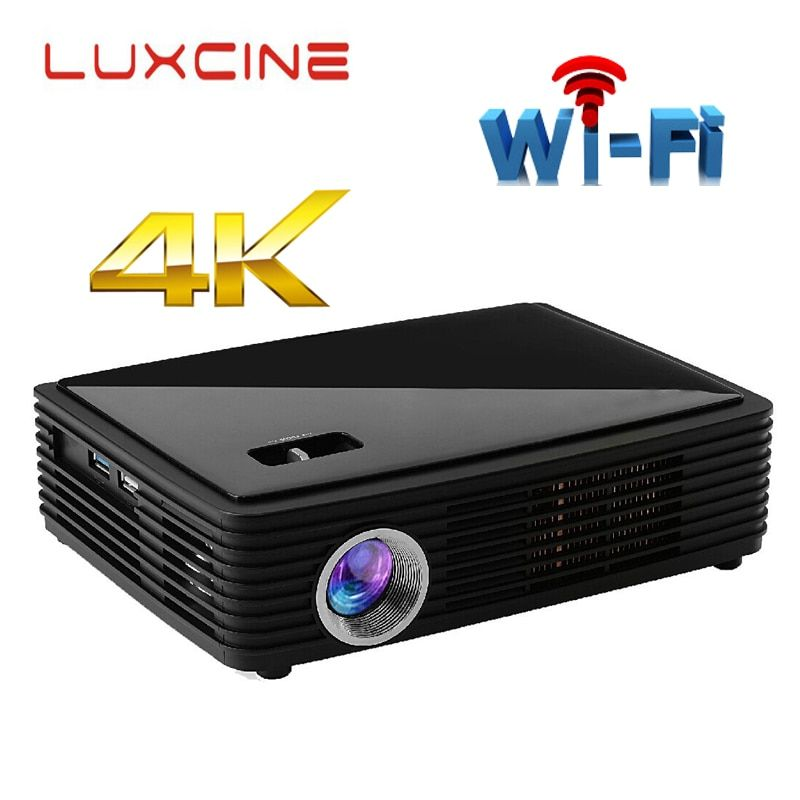 WZATCO Z4000 Android bluetooth WiFi AirPlay Miracast 2205P Portable LED DLP 3D 4K Projector HD home theater proyector Beame