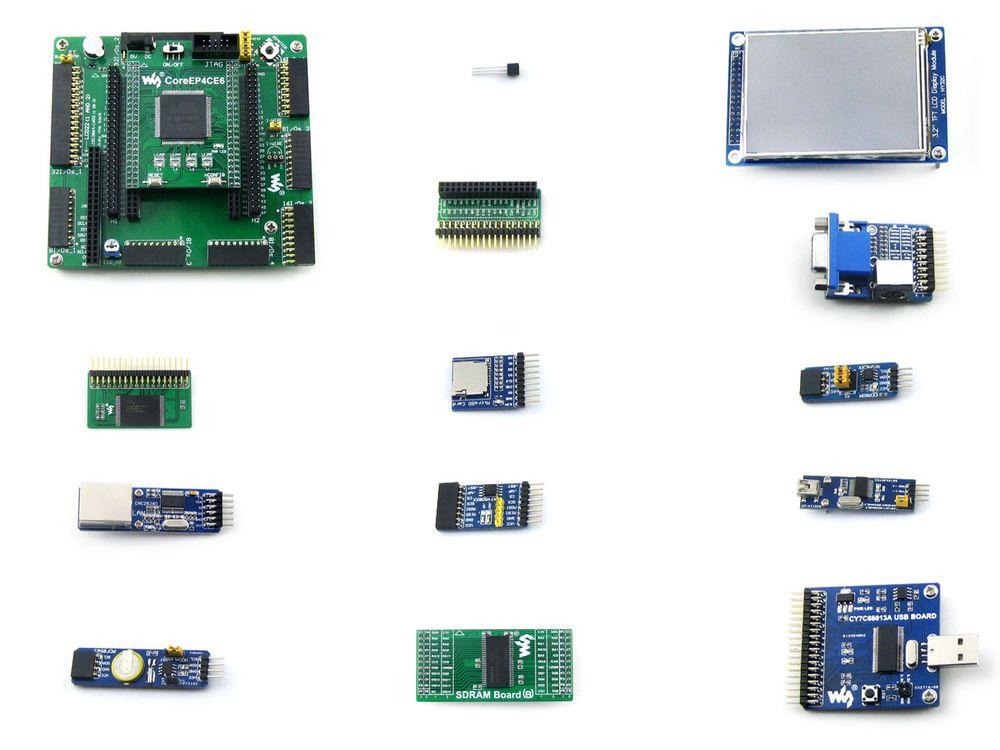module FPGA JTAG EP4CE6-C EP4CE6E22C8N ALTERA Cyclone IV FPGA Development Board + 12 Accessory Modules Kits = OpenEP4CE6-C Packa