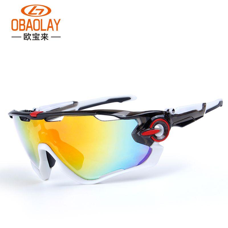 Obaolay поляризованные Велоспорт Очки 5 групп объектив Ман горный велосипед очки Спорт MTB Велосипедный Спорт Солнцезащитные очки для женщин ...