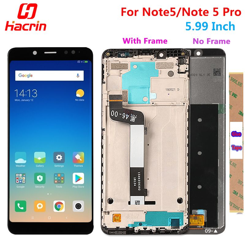 Xiaomi Redmi Note 5 Pro LCD Display Touch Screen Test Good Digitizer Assembly Replacement For Xiaomi Redmi Note5 5.99 Inch