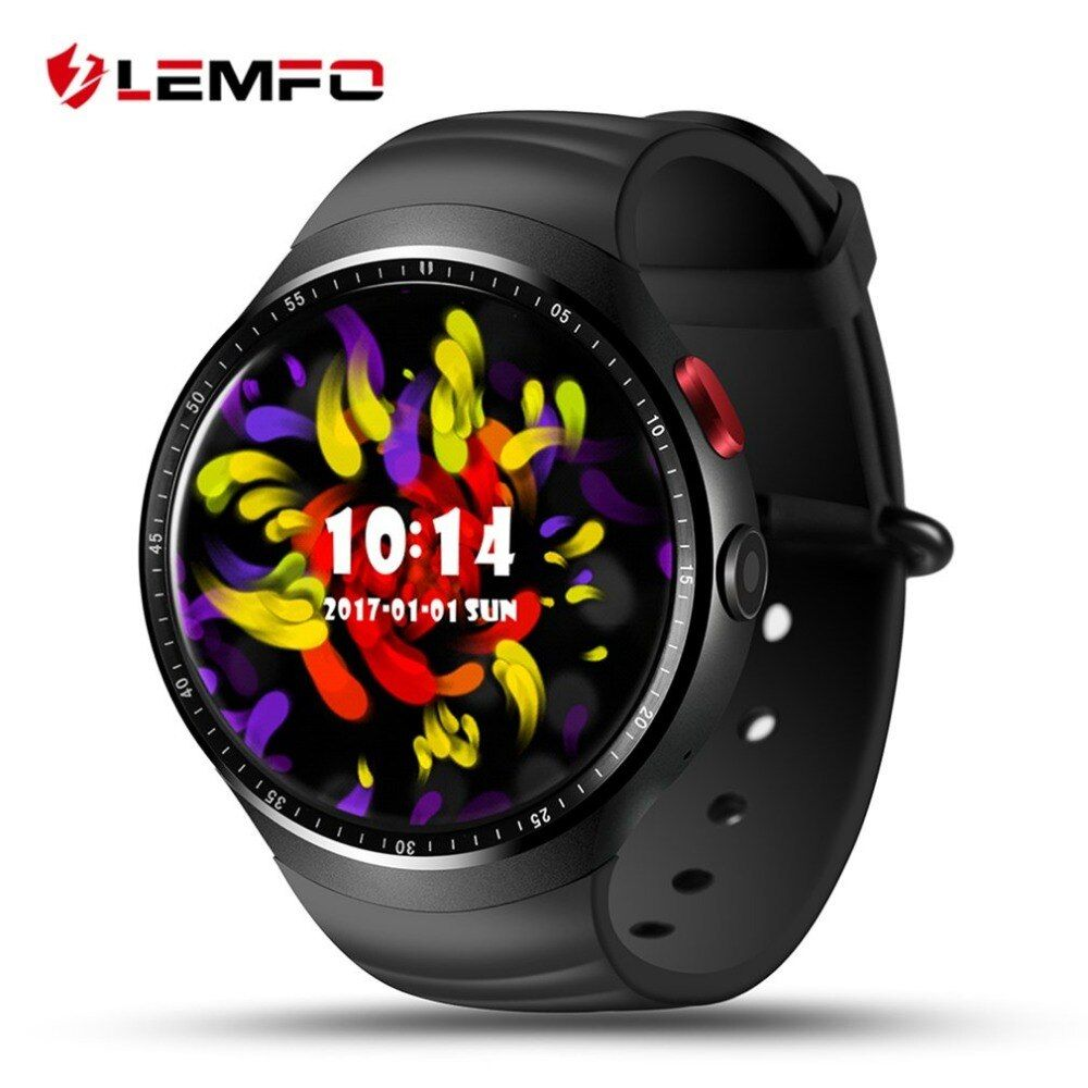 LEMFO LES1 1.39 Inch AMOLED Touch Screen Android 5.1 MTK6580 1GB+16GB Smart Watch Phone With 2.0 MP Camera Waterproof Smartwatch