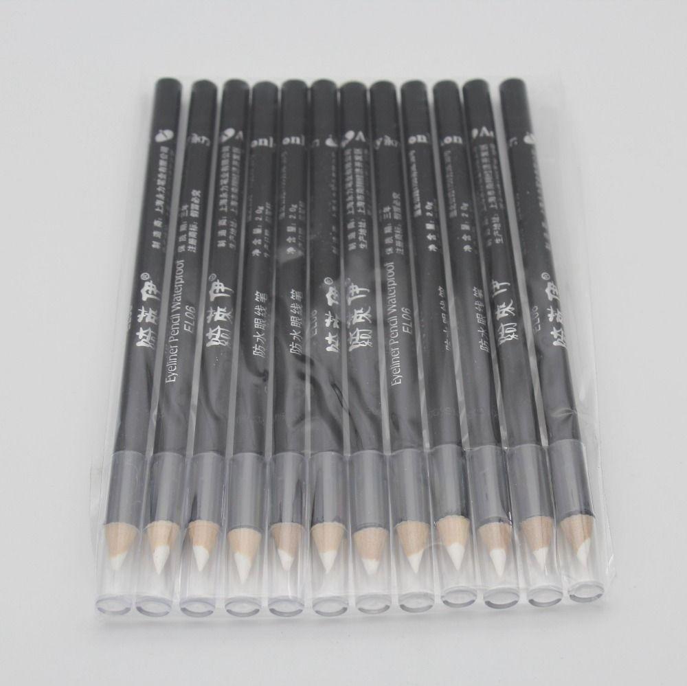 12 шт./компл. Профессиональный Водонепроницаемый белый Eye Liner Pencil Макияж Подводка для глаз ручка мода косметический Инструменты