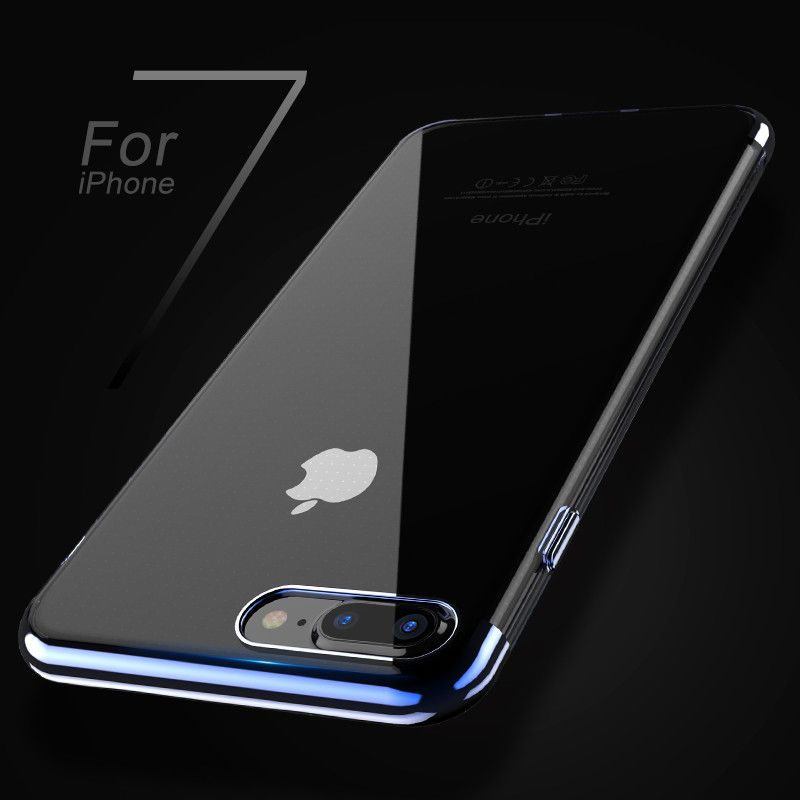 FLOVEME ipone 7 Fall Original Für iphone 6 6 s 7 Plus Fall Silikon Rahmen Transparent Backplane Abdeckung Luxus Schlanke Handy Shell