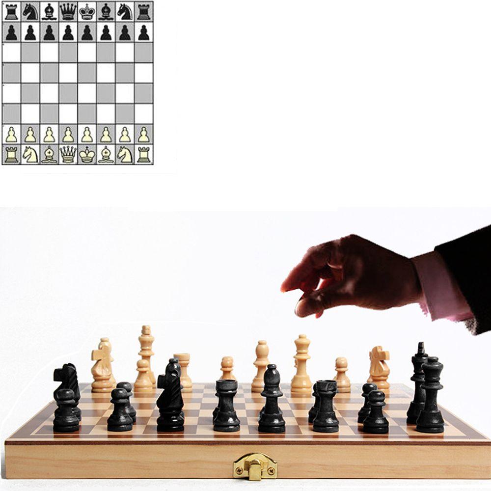 34 см * 34 см Международный деревянные шахматы Настольная игра шашки складной высокого сорта древесины деятельности деревянные шахматы