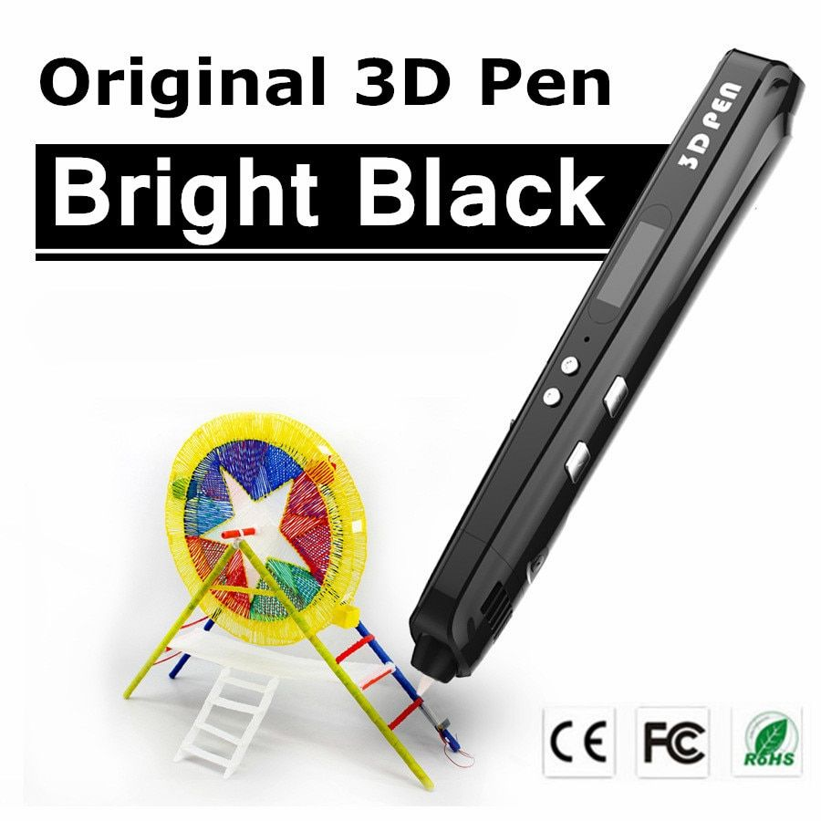 Christmas Gift Sixth Generation 3 Color 3 D <font><b>Drawing</b></font> Pens With Free Filament 3D Printing Pens For Kids Birthday Present Gift