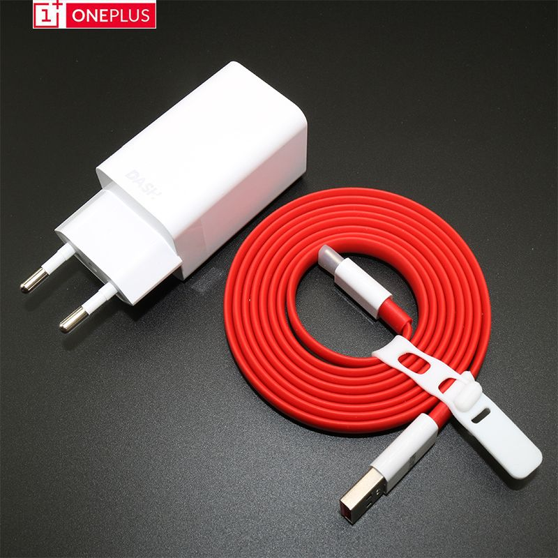 Original ONEPLUS 3 3T 5 5T 6 Dash Charger 5V 4A EU USB Fast Charger Adapter, USB 3.1 Quick Charge Data Dash Cable
