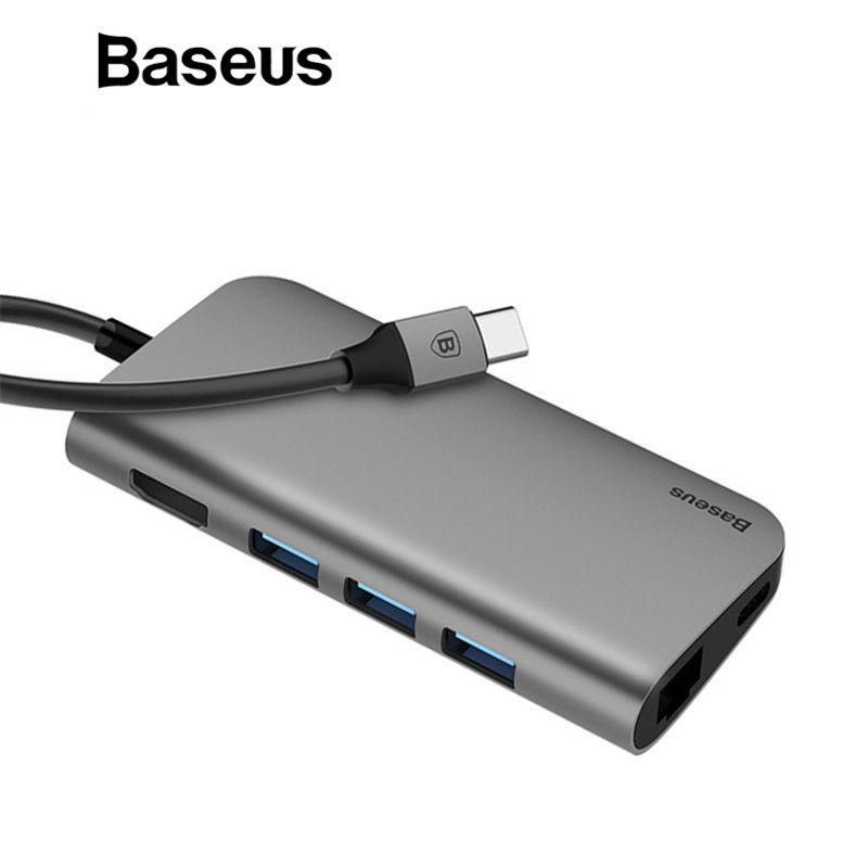 Baseus 8in1 USB Typ C 3,1 HUB für Typ C zu 3 USB 3.0/4 karat HDMI/RJ45 Ethernet /Micro SD TF Kartenleser/USB Typ C OTG HUB