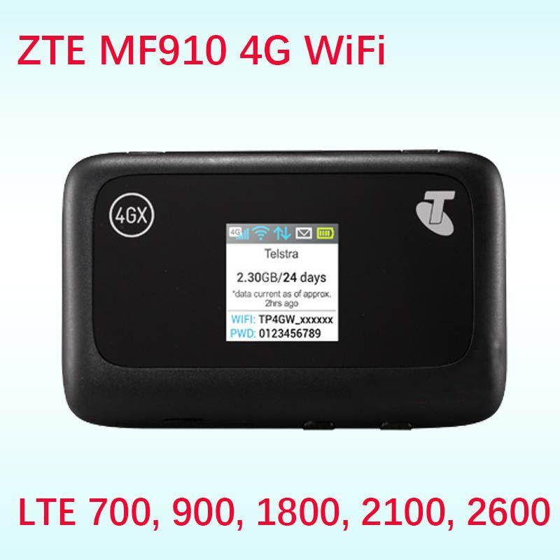 Débloqué ZTE MF910 CAT4 150 Mbps 4G LTE bande 28 700 bande sans fil routeur Mobile WiFi Hotspot routeur 4g sim carte slot wi-fi poche